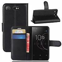 Кожаный чехол (книжка) Wallet с визитницей для Sony Xperia XZ1 Compact