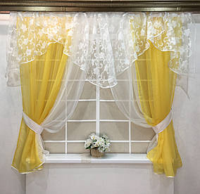 "Кухонные шторы ""Фелисия"" Желтая"