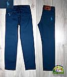 Нарядный праздничный костюм Polo на мальчика 3-4 года: голубая рубашка и синие брюки, фото 3