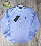 Нарядный праздничный костюм Polo на мальчика 3-4 года: голубая рубашка и синие брюки, фото 4