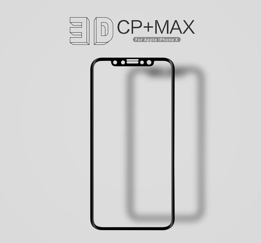 "Защитное стекло Nillkin Anti-Explosion Glass Screen (CP+ max 3D) для Apple iPhone X (5.8"")/XS (5.8"")"