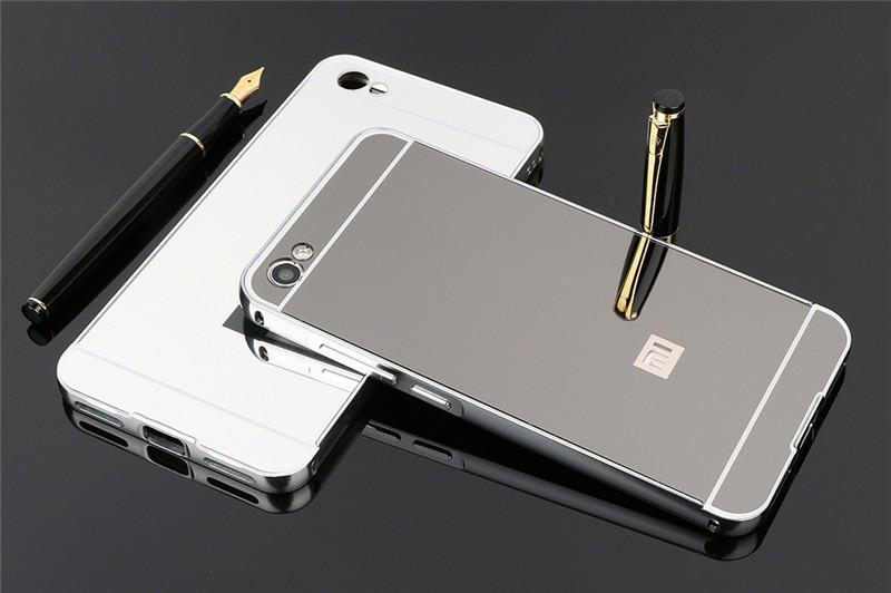 Металлический чехол с акриловой вставкой с зеркальным покрытием для Xiaomi Redmi Note 5A / Y1 Lite