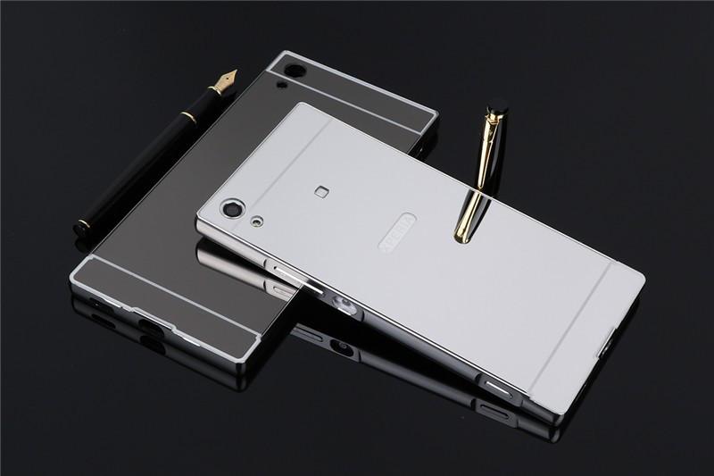 Металлический бампер с акриловой вставкой с зеркальным покрытием для Sony Xperia XA1 / XA1 Dual