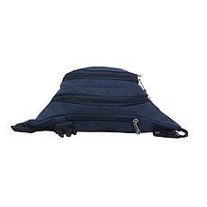 Сумка на пояс BagHouse синяя 35х16х6 материал брезент кс9008син, фото 2