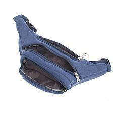 Сумка на пояс BagHouse синяя 35х16х6 материал брезент кс9008син, фото 3
