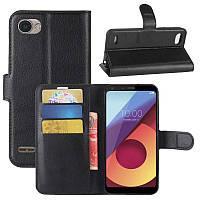 Кожаный чехол (книжка) Wallet с визитницей для LG Q6 / Q6a / Q6 Prime M700