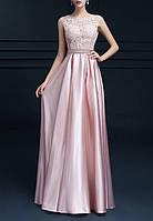 Красивое платье на выпускной в школу нежно розовое DL-50172