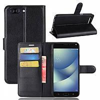 Кожаный чехол (книжка) Wallet с визитницей для Asus Zenfone 4 Max (ZC554KL)