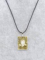 Оригинальная подвеска на шею с кристаллом горного хрусталя 45 см. 035940