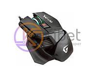 Мышь Gemix W-130 Black, Optical, USB, 2400 dpi, подсветка, игровая