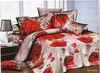 3D Двуспальное постельное белье Amika - букет роз