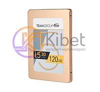 Твердотельный накопитель 120Gb, Team L5 Lite 3D, SATA3, 2.5', 3D TLC, 470/300 MB/s (T253TD120G3C101)