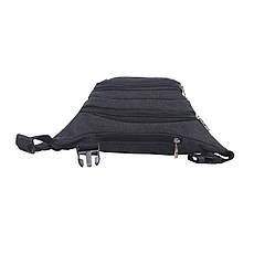 Сумка на пояс BagHouse 35х14х6 цвет чёрный ткань брезент ксФ0031ч, фото 2