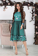 Нарядное Платье Фрида бирюзовое, фото 1