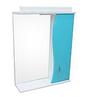 Дзеркало Аквасан з підсвічуванням 65 см Блакитне, фото 1