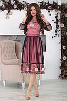 Нарядное розовое Платье Фрида, фото 1