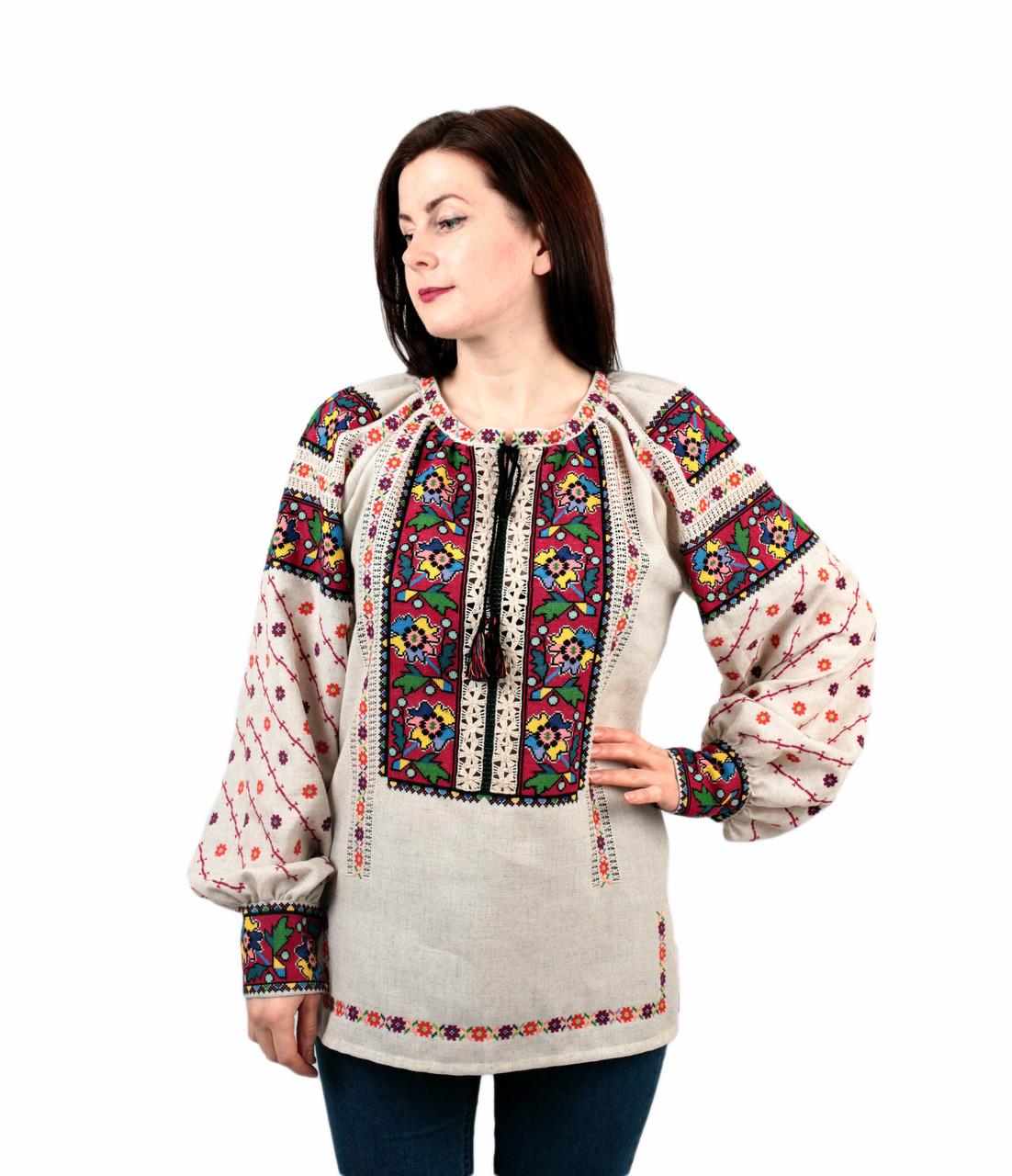 2971bac0938fa4 Жіноча вишиванка на льоні ручної роботи: продажа, цена в ...