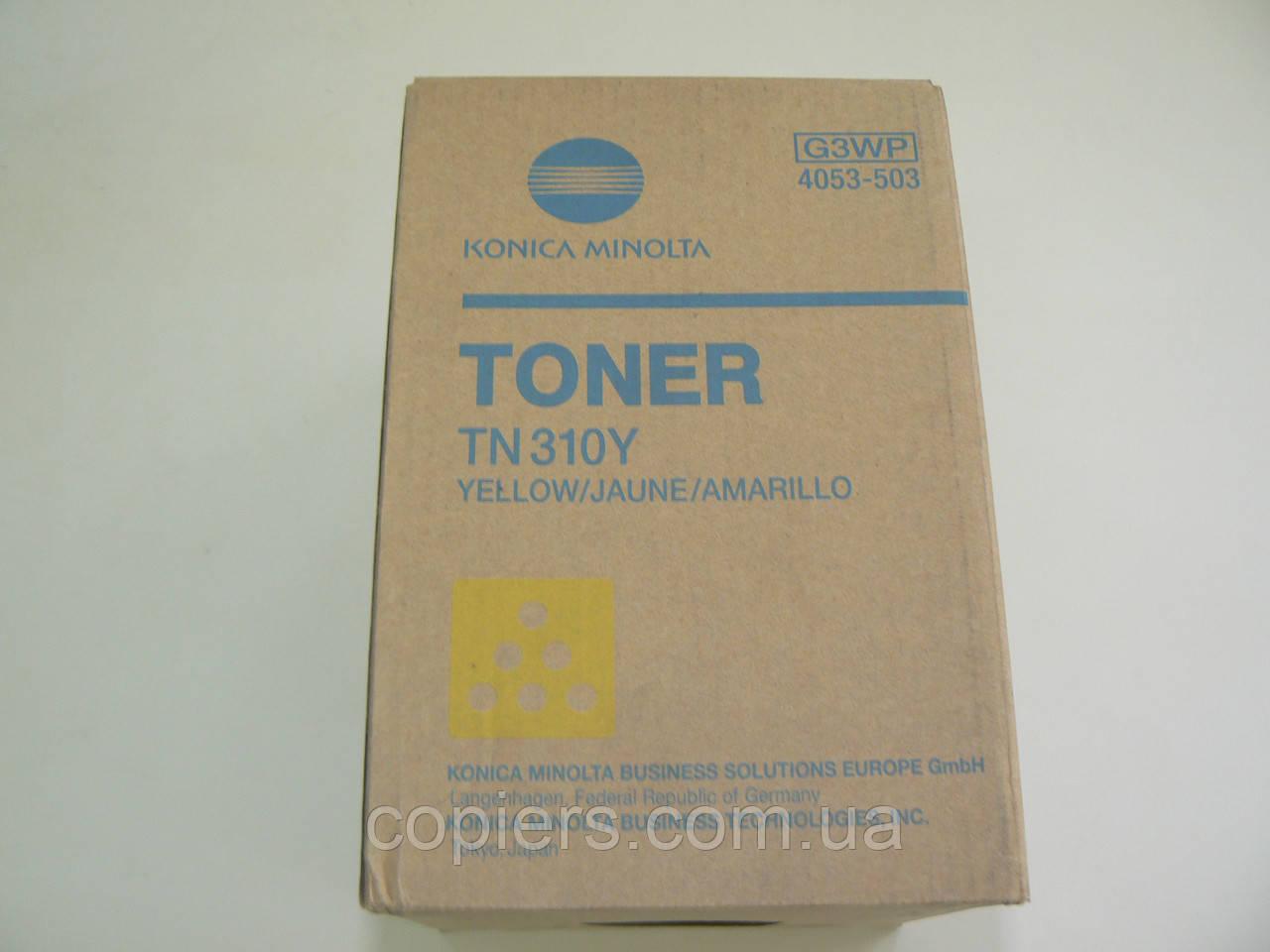 Тонер картридж TN310 yellow оригинал, bizhub c350/c450/c351