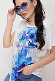 Річна жіноча футболка з квітами