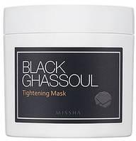 "Маска для звуження пор MISSHA ""Black Ghassoul Tightening Mask"""