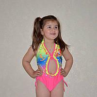 Детский купальник на 2-3 года, для девочки, красочный, цельный, Русалочка