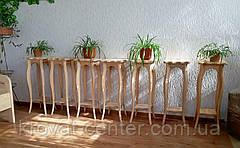"""Підлогова підставка під квіти з натурального дерева """"Азалія"""" (двоколірне), фото 2"""