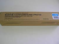 Тонер картридж TN216 C Konica Minolta Bizhub  c220/c280,  не оригинал