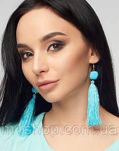 Женские длинные серьги из бахромы (9167 br)