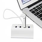 Хаб USB OTG Hub 3 в 1 с подставкой для телефона. USB хаб с доп.питанием универсальный, фото 4