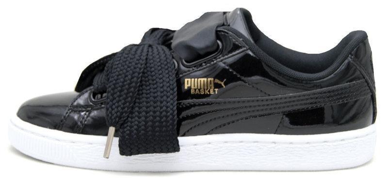 Женские кроссовки Puma Basket Heart Patent Black 39 860cbfba5855e
