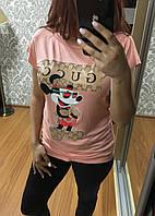 Футболка женская Турция, модель 2018 Gucci Пурпурный