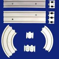 Карниз потолочный пластиковый СМ двухрядный 3 м в сборе
