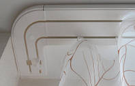 Карниз потолочный пластиковый СМ трехрядный 1.2 м в сборе., фото 1