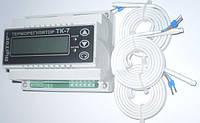 Трехканальный цифровой регулятор температуры тk-7 4.5а din рейка для управления  электрокотлом