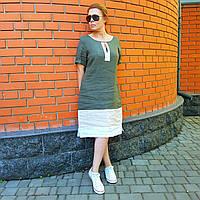 Итальянское зеленое платье из льна от Paquito