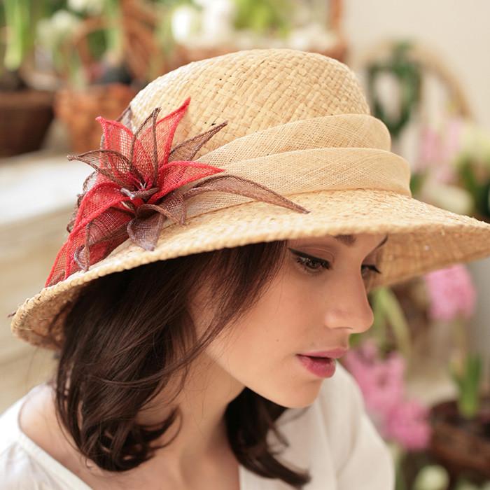 Элегантная  шляпа натуральная соломка рафия поля  10 см размер 55-59 см