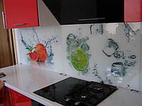 Кухонный фартук из стекла диамант .Скинали