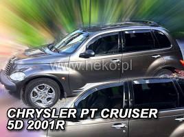 Дефлекторы окон (ветровики) CHRYSLER PT CRUISER 5D 2002R-> 4шт (Heko)