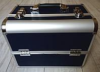 Чемодан для косметики алюминиевый (midnight blue / полуночно-синий, чернильный, матовый), фото 1