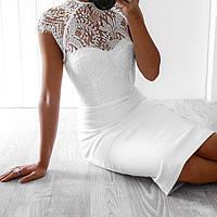 Белое и черное  бандажное платье Herve Leger, фото 1