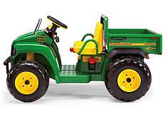 Детский двухместный электромобиль Peg Perego грузовик John Deere Gator с откидным кузовом 12V, мощность 340W, фото 3