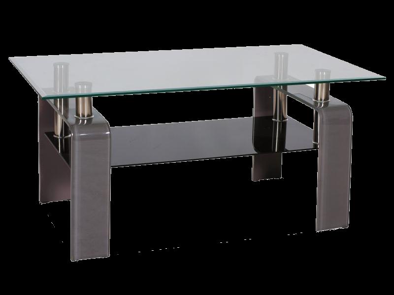 Журнальний кофейний стіл зі скла у вітальню Stella Signal