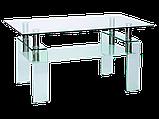 Журнальний кофейний стіл зі скла у вітальню Stella Signal , фото 5