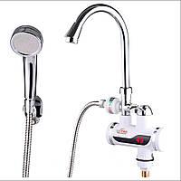 Смеситель для мгновенного подогрева проточной воды водонагреватель ZERIX ELW-08-P. с защитой