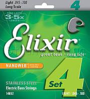 Elixir 14052 Nanoweb, струны для бас гитары