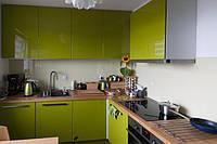 Кухня салатовая глянцевая крашеная, фото 1