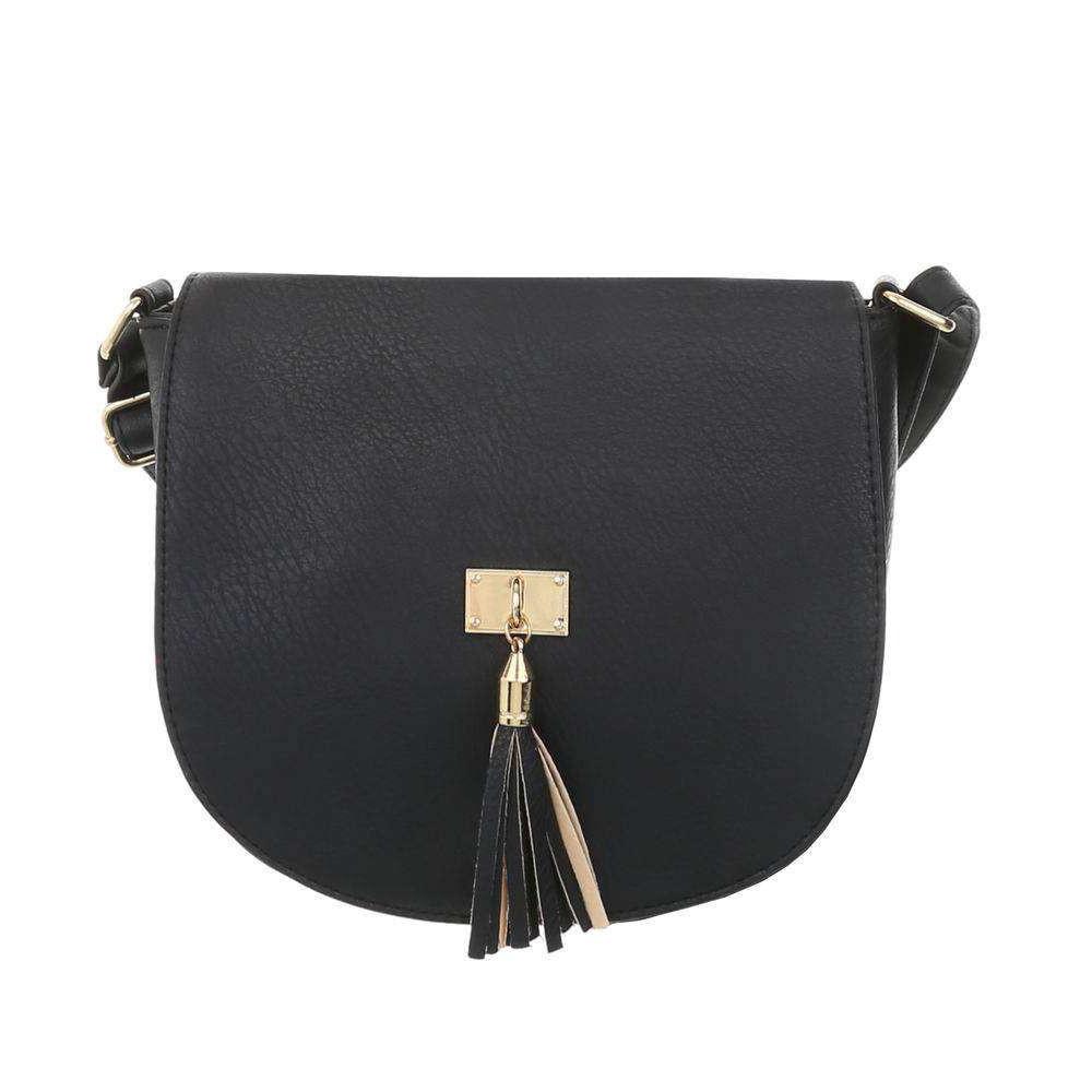 Женская сумка с кисточкой (Европа), Черный