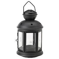 Фонарь для свечи IKEA Фонарь для греющей свечи, д/дома/улицы черный (10122987) (101.229.87)