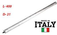 Магниевый анод, Италия L - 400mm , d - 21mm, резьба M8