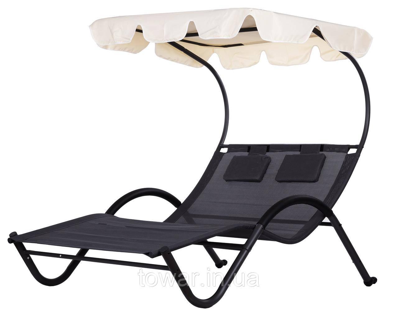 Лежак шезлонг кровать GoodHome с крышой